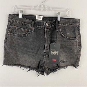 Levi's • Black Denim Shorts